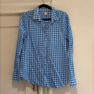 💙 J.Crew Gingham Blouse 💙